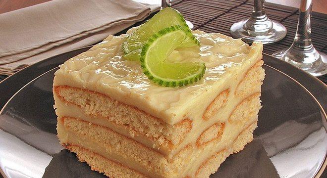 Guia da Cozinha - Receita de pavê de chocolate branco com mousse de limão