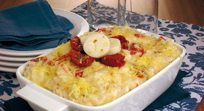 Guia da Cozinha - Receita de risoto de palmito