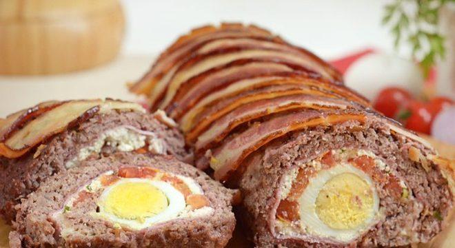 Guia da Cozinha - Rocambole de carne fácil para um almoço delicioso
