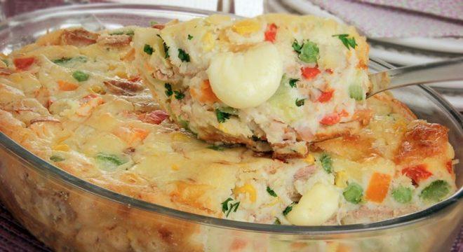Guia da Cozinha - Torta de atum com legumes