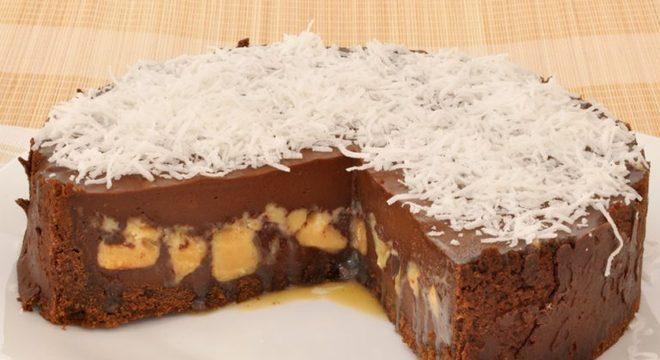 Guia da Cozinha - Torta de chocolate e doce de leite
