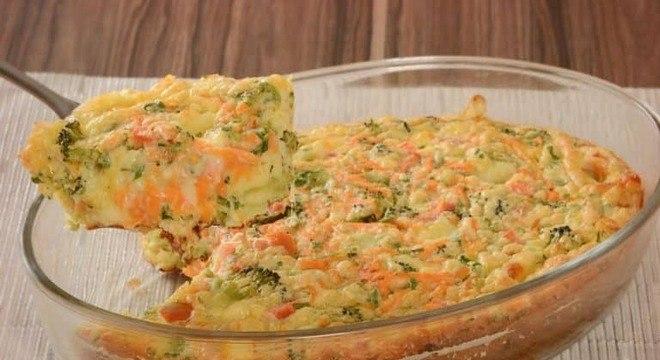 Guia da Cozinha - Torta de legumes com queijo de liquidificador