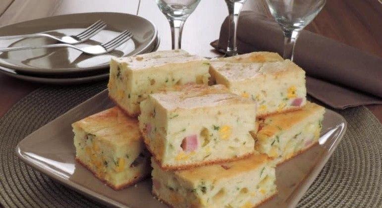 Guia da Cozinha - Torta de presunto, queijo e milho pronta em 40 minutos