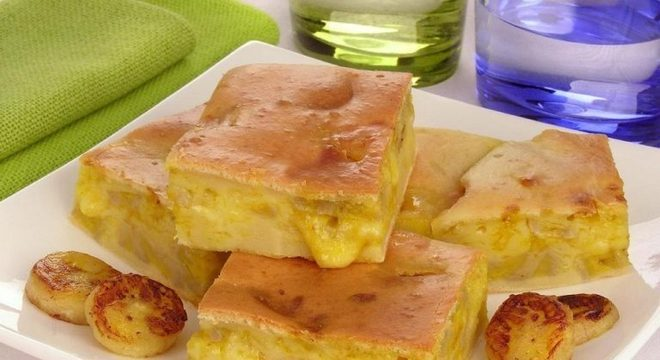 Guia da Cozinha - Torta de queijo com banana e curry: diferente e prática