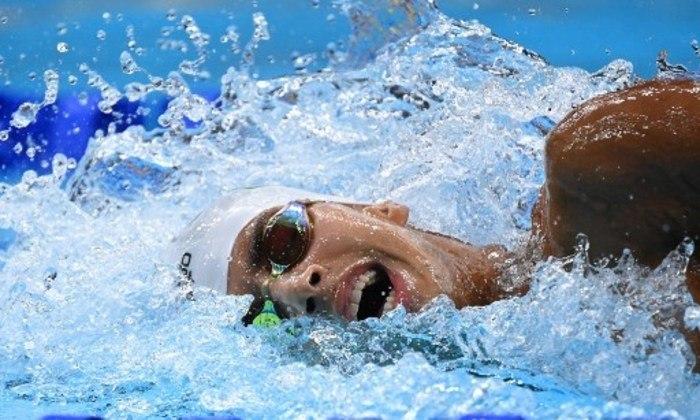 Guilherme Costa terminou em último lugar na final de 800m livre - masculino da natação e ouro olímpico ficou com o americano Robert Finke.