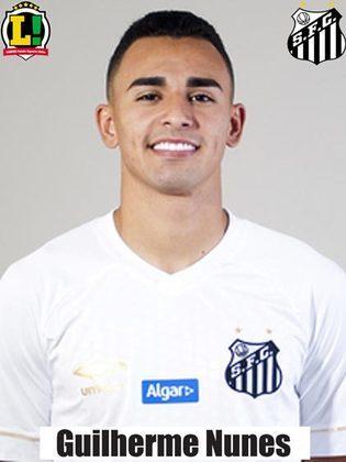 Guilherme Nunes – 6,0 – Marcou muito e ainda conseguiu chegar bem ao ataque. Além disso, tem uma boa saída de bola.