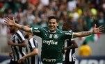 Paraguaio Gustavo Gómez marcou o gol do Palmeiras, no Mané Garrincha (DF)