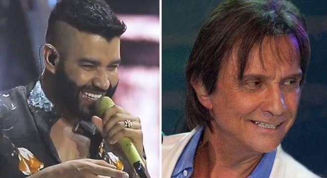 Gusttavo Lima e Roberto Carlos fecharam acordo milionário na quinta-feira (4)