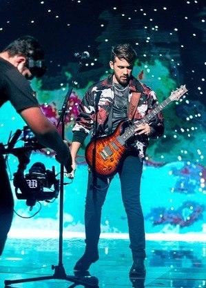 Gustavo Mioto na gravação do DVD