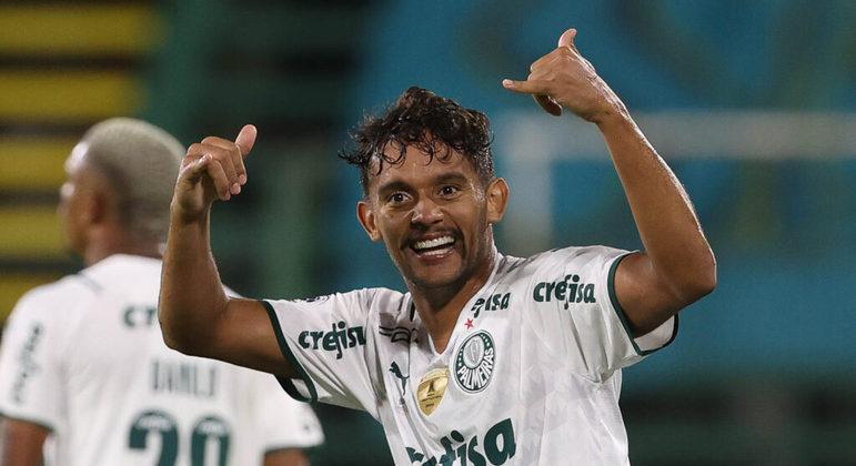 Gustavo Scarpa marcou um gol de centroavante. Foi o que bastou para o Palmeiras