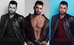 Gusttavo Lima fez um bico como modelo e mostrou o resultado do ensaio fotográfico nas redes sociais.