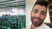 Gusttavo Lima envia 150 cilindros de oxigênio para Manaus