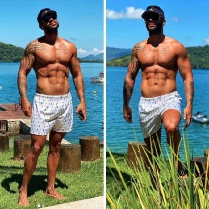 Gusttavo Lima chamou atenção na web por corpo sarado