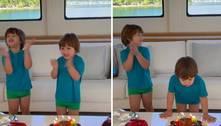 Gusttavo Lima e Andressa celebram aniversário do filho caçula em iate