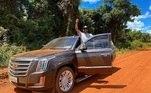 O Cadillac Escalade do sertanejo custa aproximadamente R$ 850 mil, já a blindagem do veículo ultrapassa R$ 1 milhão. Nos EUA, o carro é um dos modelos oficiais do FBI