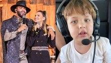 Suita exibe passeio de helicóptero com filhos e Gusttavo Lima