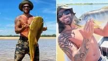 Gusttavo Lima pesca peixe de mais de 30 kg no rio Araguaia