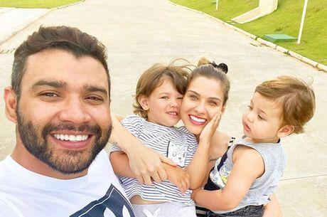 Andressa negou que Gusttavo esteja sem ver os filhos