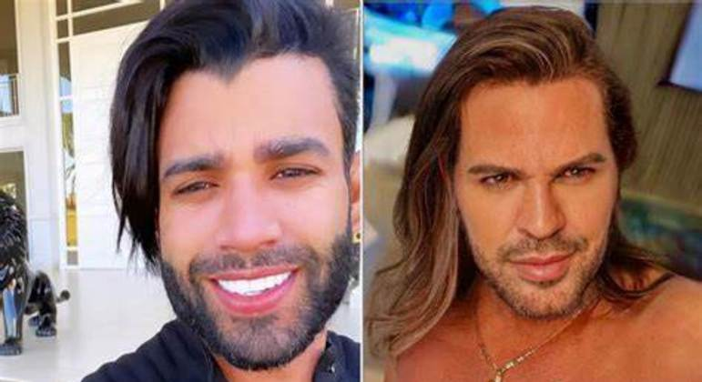 Gusttavo Lima e Eduardo Costa com a mesma cabeleira