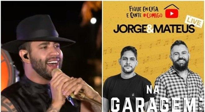 Gusttavo Lima e a dupla Jorge e Mateus criaram lives para os fãs na quarentena
