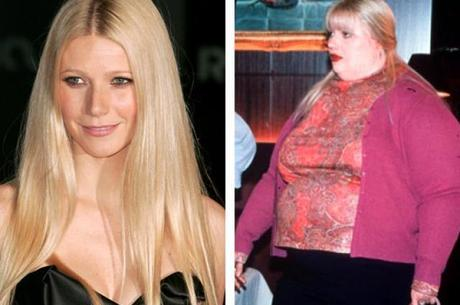 Gwyneth Paltrow em O Amor é Cego com fat suit