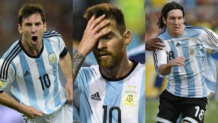Há menos de uma semana para o início da Copa América 2021, o LANCE! montou uma galeria com todos os torneios em que Messi disputou pela Argentina em sua carreira. A Albiceleste não vence um torneio profissional desde 1993, quando faturou a Copa América daquele ano. Esse será o ano da Seleção Argentina? Veja o desempenho de Messi!
