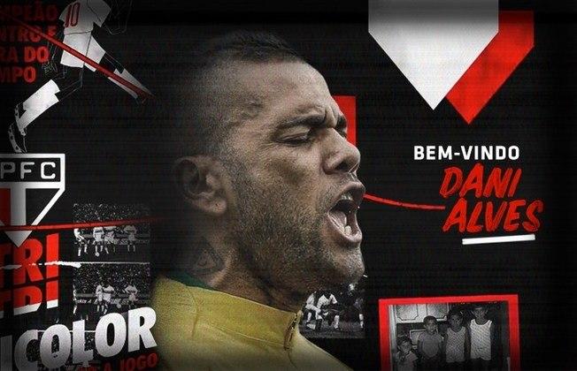 Há um ano, na noite de 1º de agosto de 2019, o São Paulo anunciava a contratação de Daniel Alves, que estava livre após o fim de seu contrato com o PSG (FRA). Ele vinha em alta após ser capitão da Seleção Brasileira na conquista da Copa América, competição da qual foi o melhor jogador. Relembre o que rolou ao longo dos últimos 365 dias.