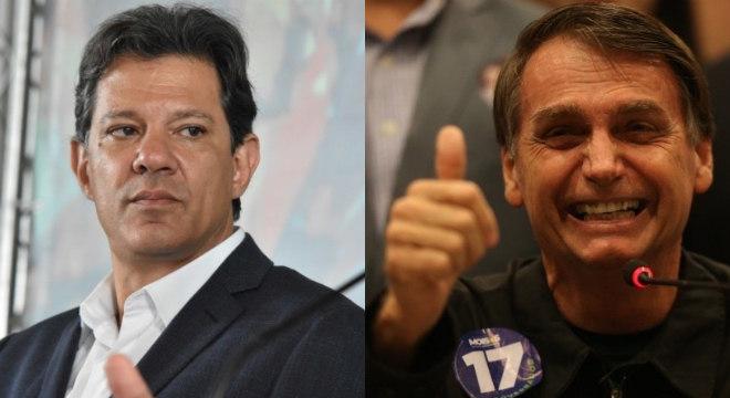 Fernando Haddad e Jair Bolsonaro disputam o segundo turno da eleição presidencial
