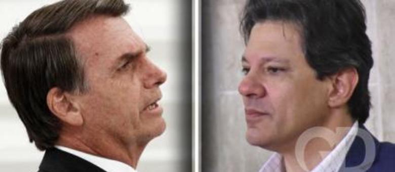 Jair Bolsonaro e Fernando Haddad, que disputam a presidência da República