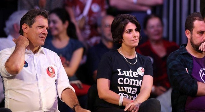 Fernando Haddad, Manuela d'Ávila e Guilherme Boulos
