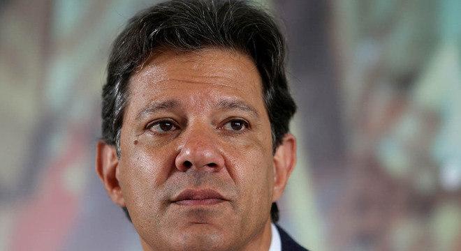 O candidato à Presidência pelo PT, Fernando Haddad