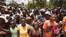 Distribuição de comida no Haiti é marcada por tumulto