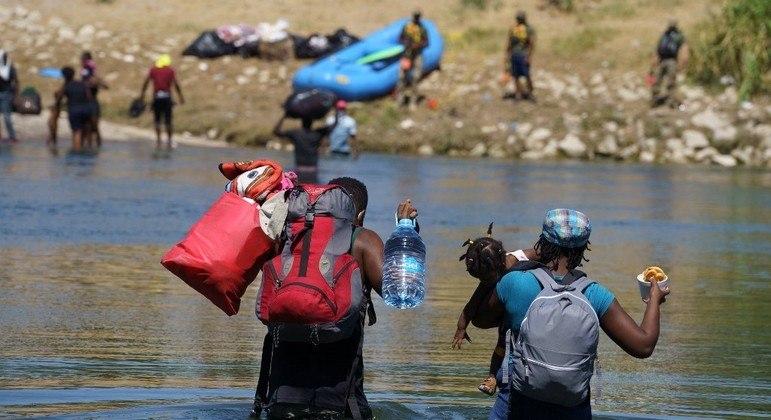 Haitianos têm usado o México para chegar à fronteira com os Estados Unidos