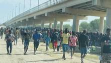 Milhares de haitianos acampam no Texas após cruzarem fronteira