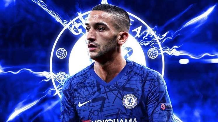 HAKIM ZIYECH - O atacante marroquino vai defender o Chelsea, negociado por R$ 252 milhões com o Ajax, da Holanda (40 milhões de euros)