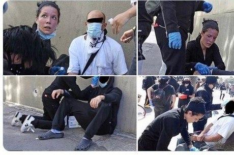 Halsey socorre manifestantes feridos por balas de borracha
