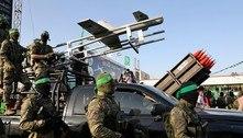 Hamas participa de desfile militar com foguetes e drone