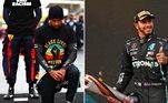 Lewis Hamilton ganhou na manhã deste domingo (15) o sétimo título mundial da Fórmula 1, após vencer o GP da Turquia. Ao lado de Schumacher, o piloto inglês é o maior vencedor da categoria. Após a conquista, ele fez questão de reafirmar nas redes sociais a luta contra a intolerância e a igualdade