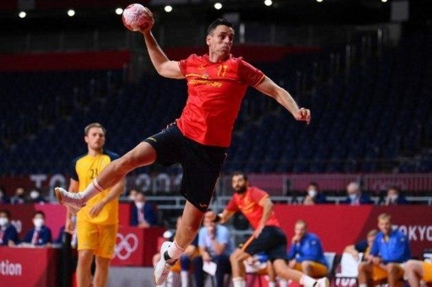 Handebol: as semifinais do masculino serão nesta manhã. Às 5h, França e Egito medem forças. Às 9h, Espanha (foto) e Dinamarca jogam.