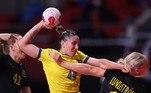 HANDEBOL FEMININO - Na partida contra a Suécia, a seleção brasileira foi derrotada por 34 a 31. Na última rodada, contra a França, a equipe precisa de uma vitória ou um empate para se classificar. Em caso de derrota, a seleção estará eliminada.