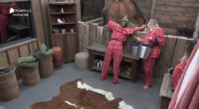 Hari costuma desabafar com os animais de A Fazenda sobre diversas situações