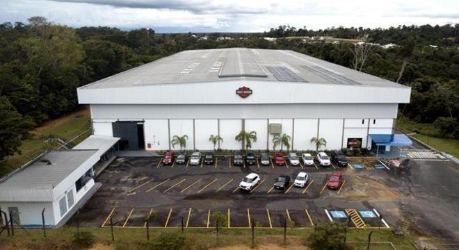 Imagem aérea das instalações da Harley-Davidson do Brasil em Manaus (AM)