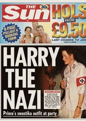 Harry usou uma suástica