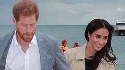 Meghan Markle esbanja simpatia e príncipe Harry emociona fã na Austrália ()