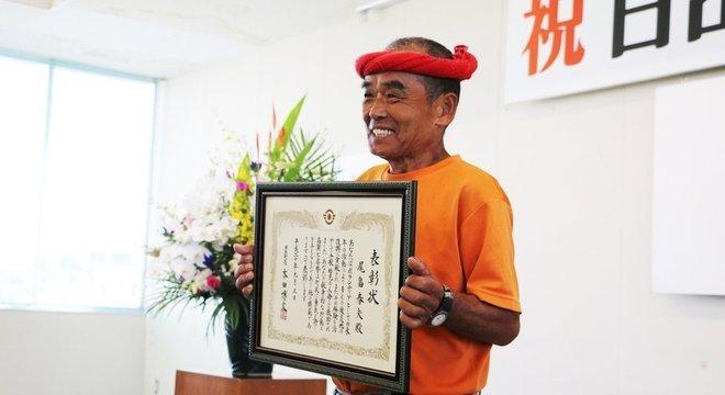 Conhecido como Super Voluntário, Haruo Obata foi homenageado pela cidade natal