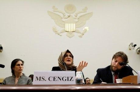Hatice Cengiz esteve no Congresso dos EUA nesta 5ª