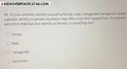 Pergunta feita aos alunos sobre identidade de gênero gerou confusão