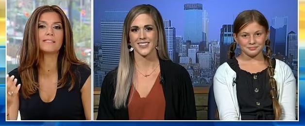 Hayley e sua mãe, Kelsey Yasgar, falaram sobre a situação no programa Fox & Friends