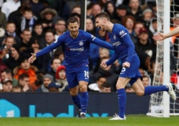 Hazard e Jorginho foram os responsáveis pelo segundo gol