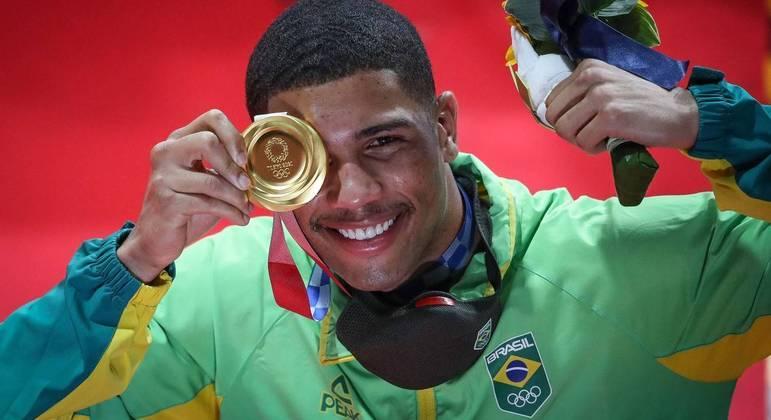 Hebert Conceição conquistou a medalha de ouro no boxe